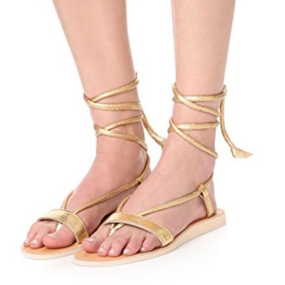 ecc28dcad64996 Cocobelle gold wrap sandals